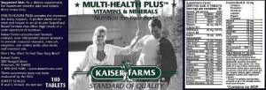 Kaiser Farms Multihealth plus